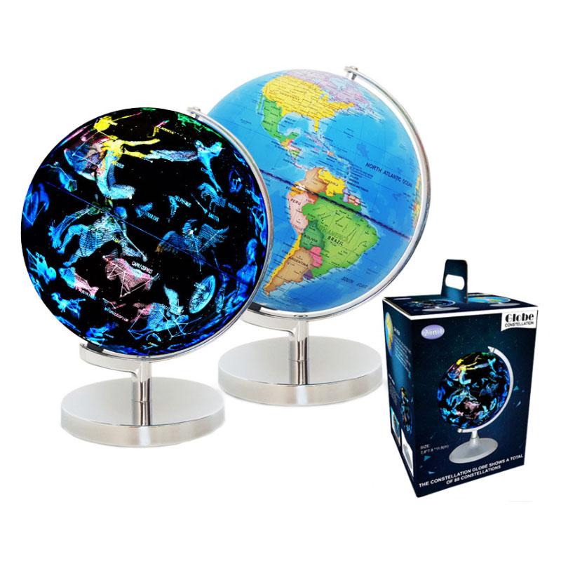 8 Inch Illuminated World Globe