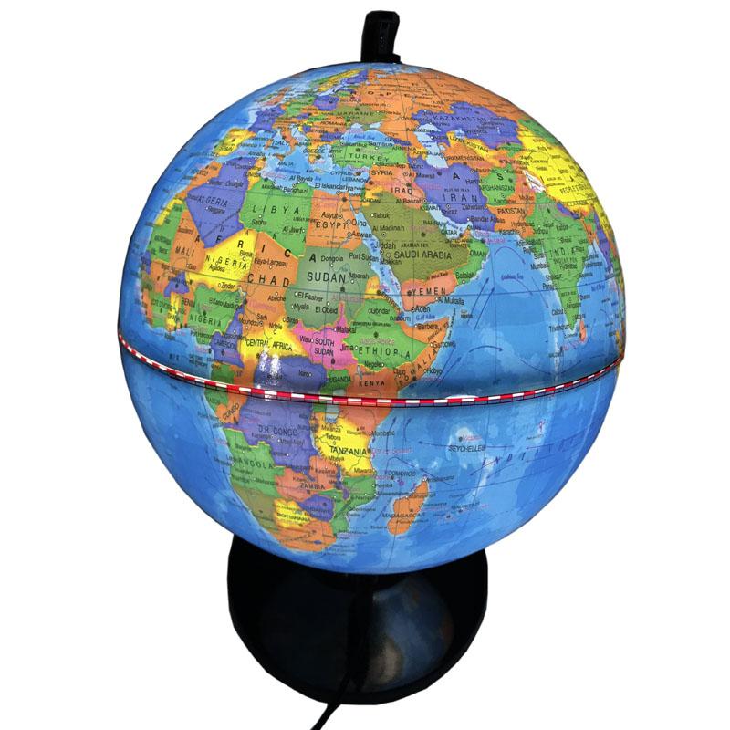8Inch Plastic World Globe With Light