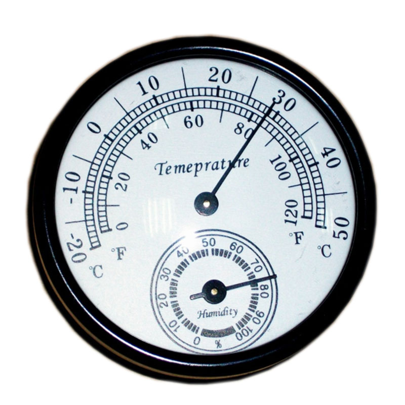 Thermometer lan Hygrometer Sauna Aluminium