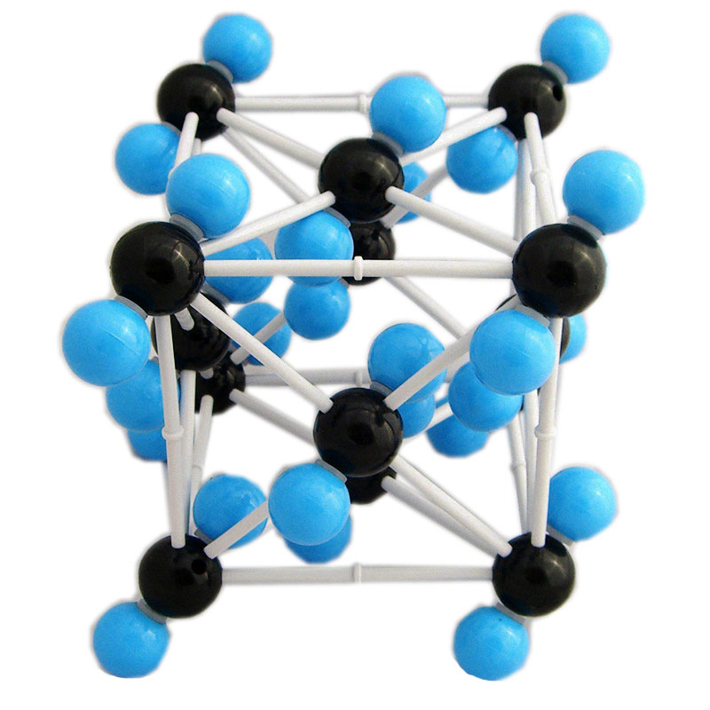 Carbon Dioxide CO2 Molecular Crystal Model