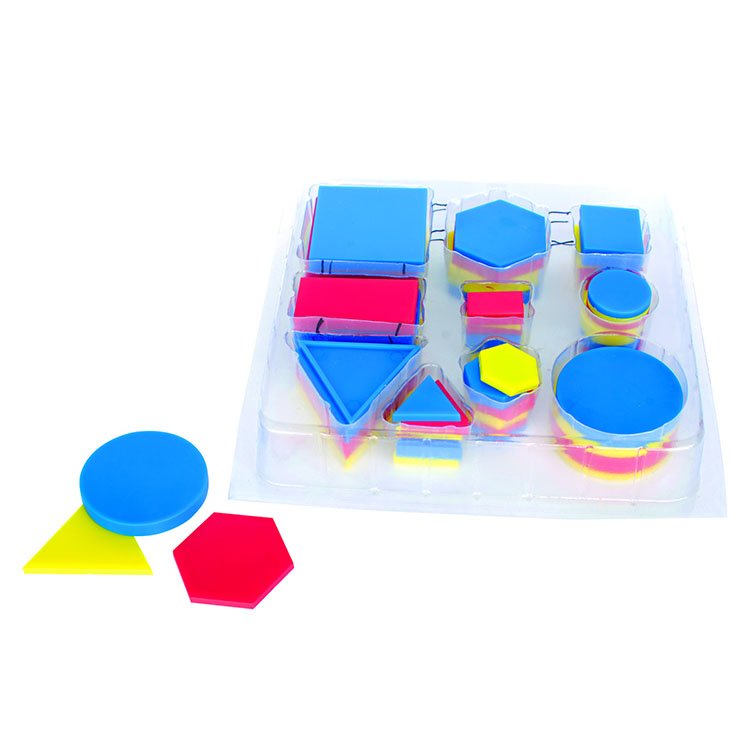 Educational Attribute Blocks Desk Set