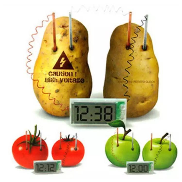 Fruit Battery Clock