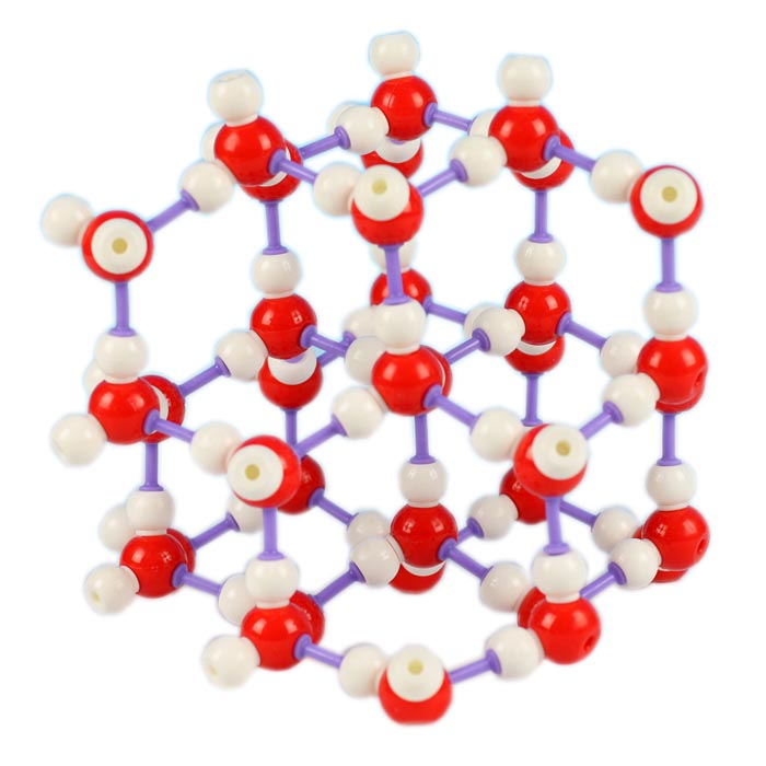 Model Struktur Molekuler ICE H20