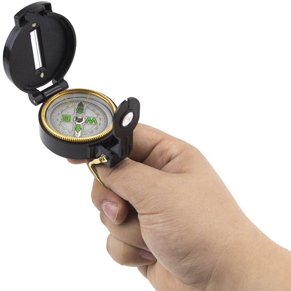 Lensatic Folding Pocket Compass