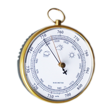 Metal Ring And Frame Barometer