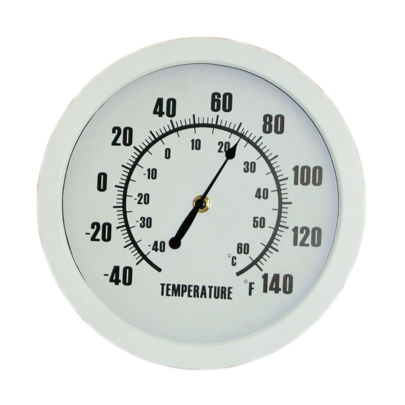 Termometer Jam Dinding Plastik