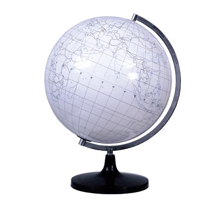 Plastic White Filling Globe