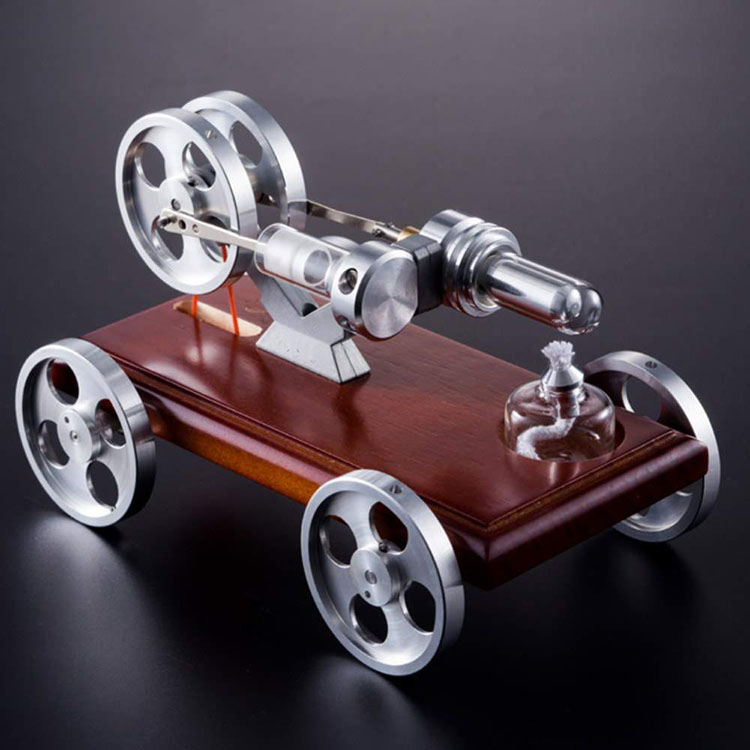 Stirling Engine Power Car Model