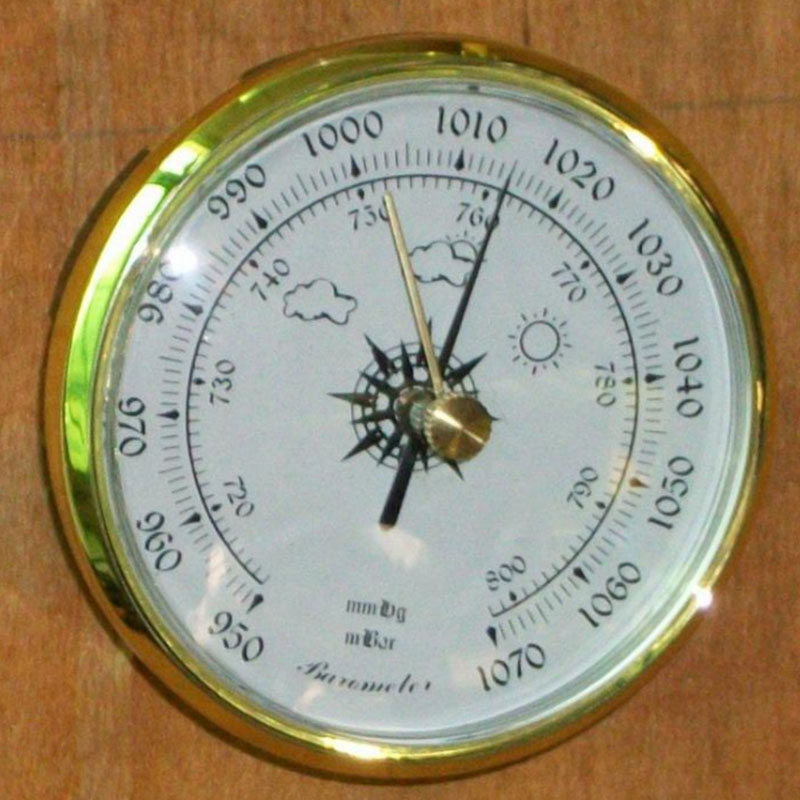 Wall Clock Barometer Dia 80mm