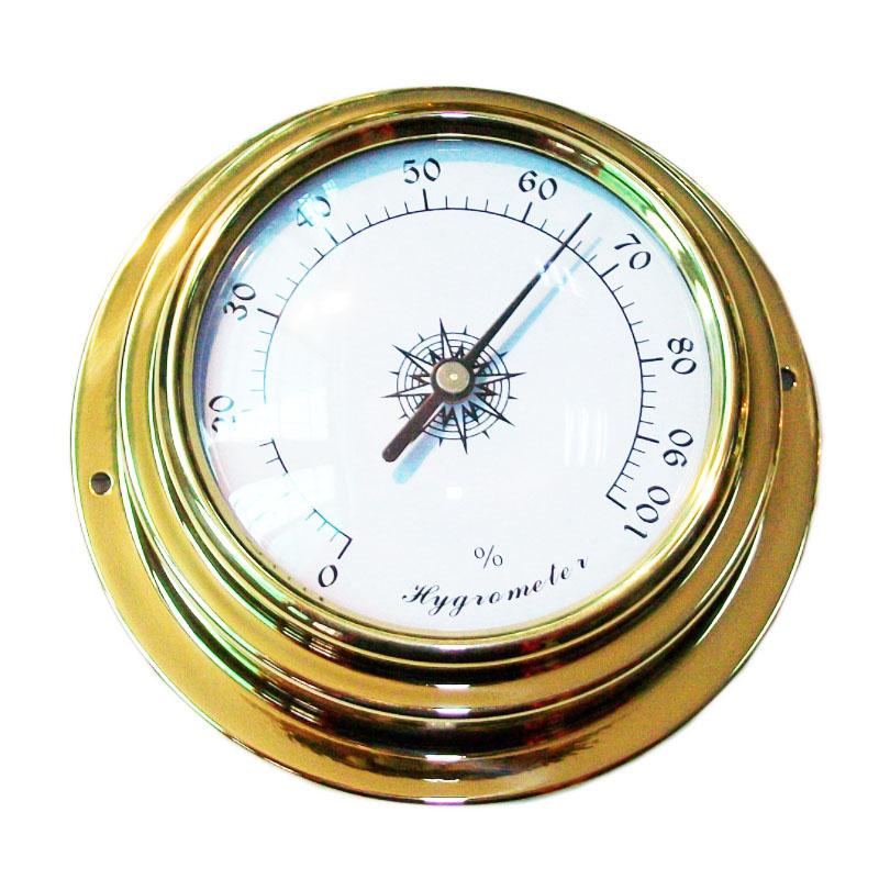 Wall Clock Brass Hygrometer