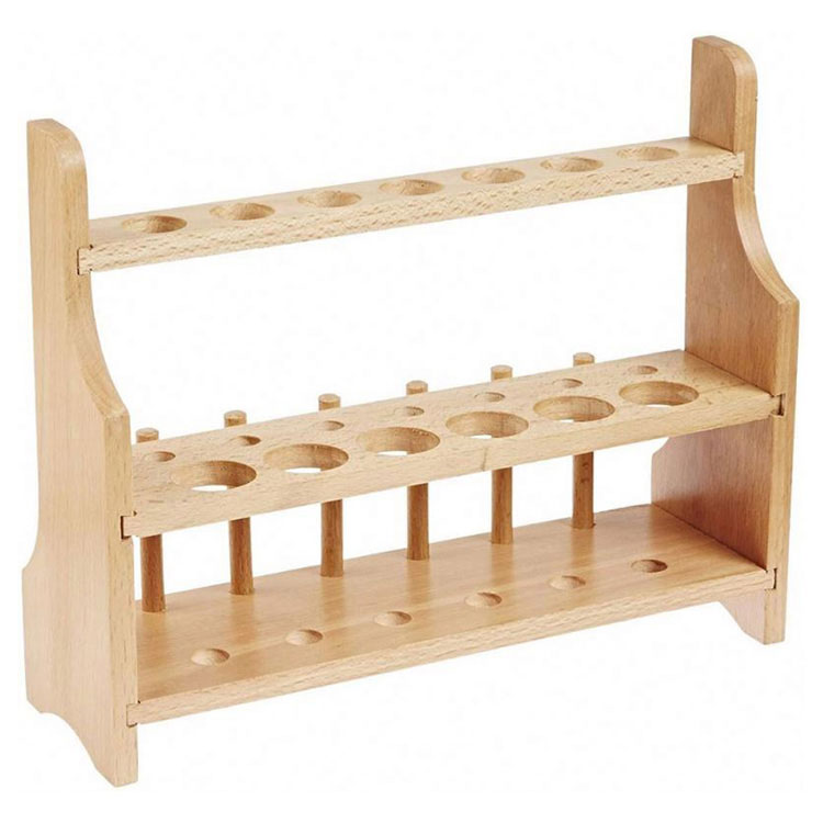 Wooden 2 Tier Test Tube Rack