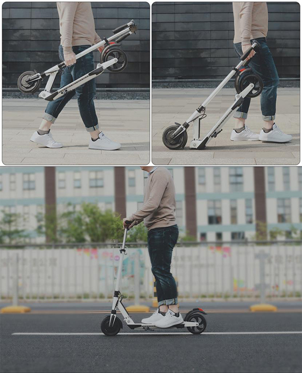 Electric Scooter With Pedals