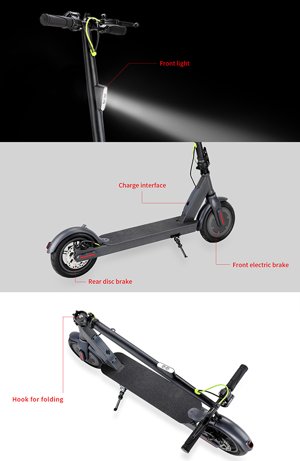 8.5 Inch Kick Electric Scooter For Adult