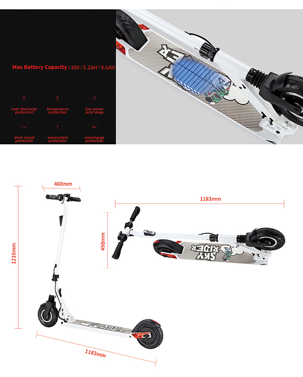 350W 8 Inch Wheel Electric Scooter