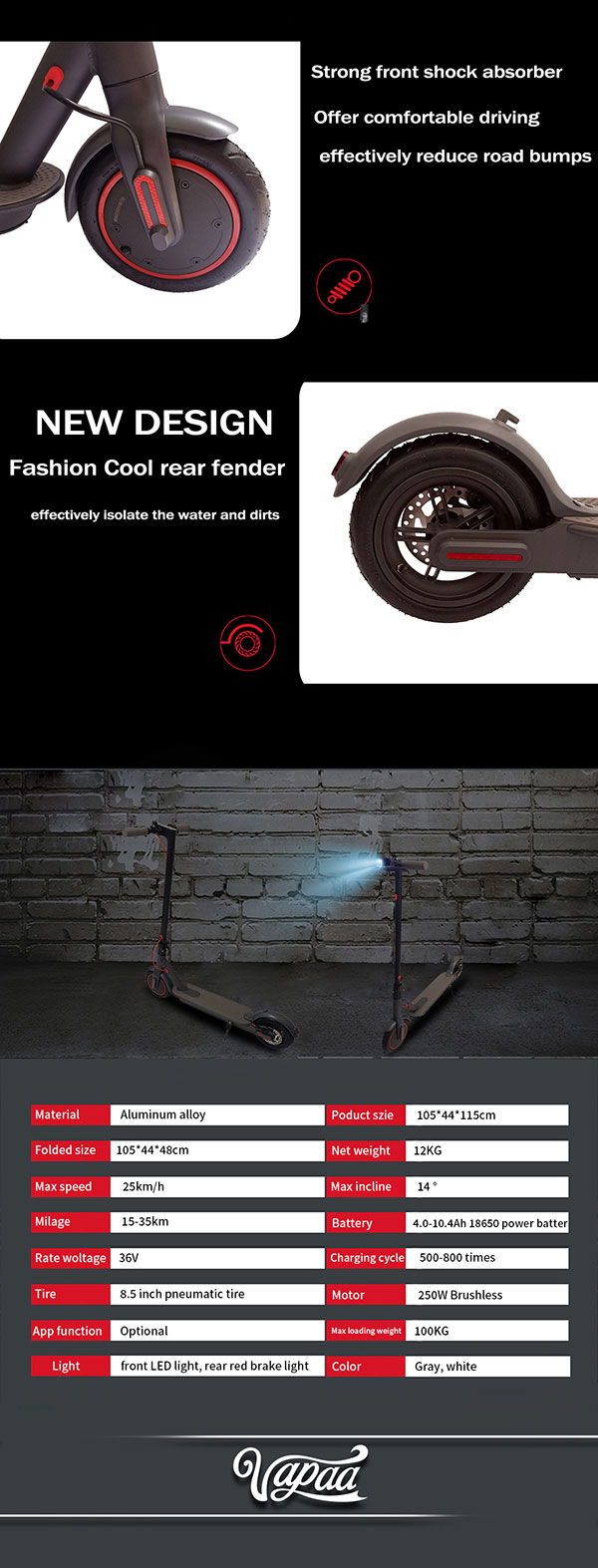 Electric Scooter Adult Fast With Lithium Batteries