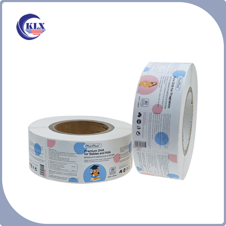 Health care product self-adhesive label