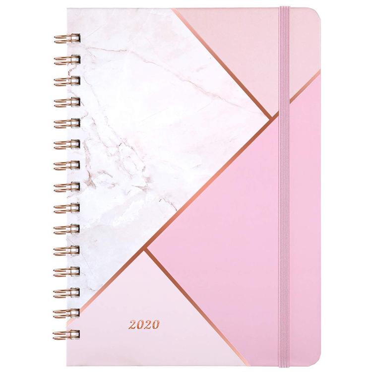 2020 हार्डकवर ए 5 सर्पिल पेपर नोट बुक डायरी