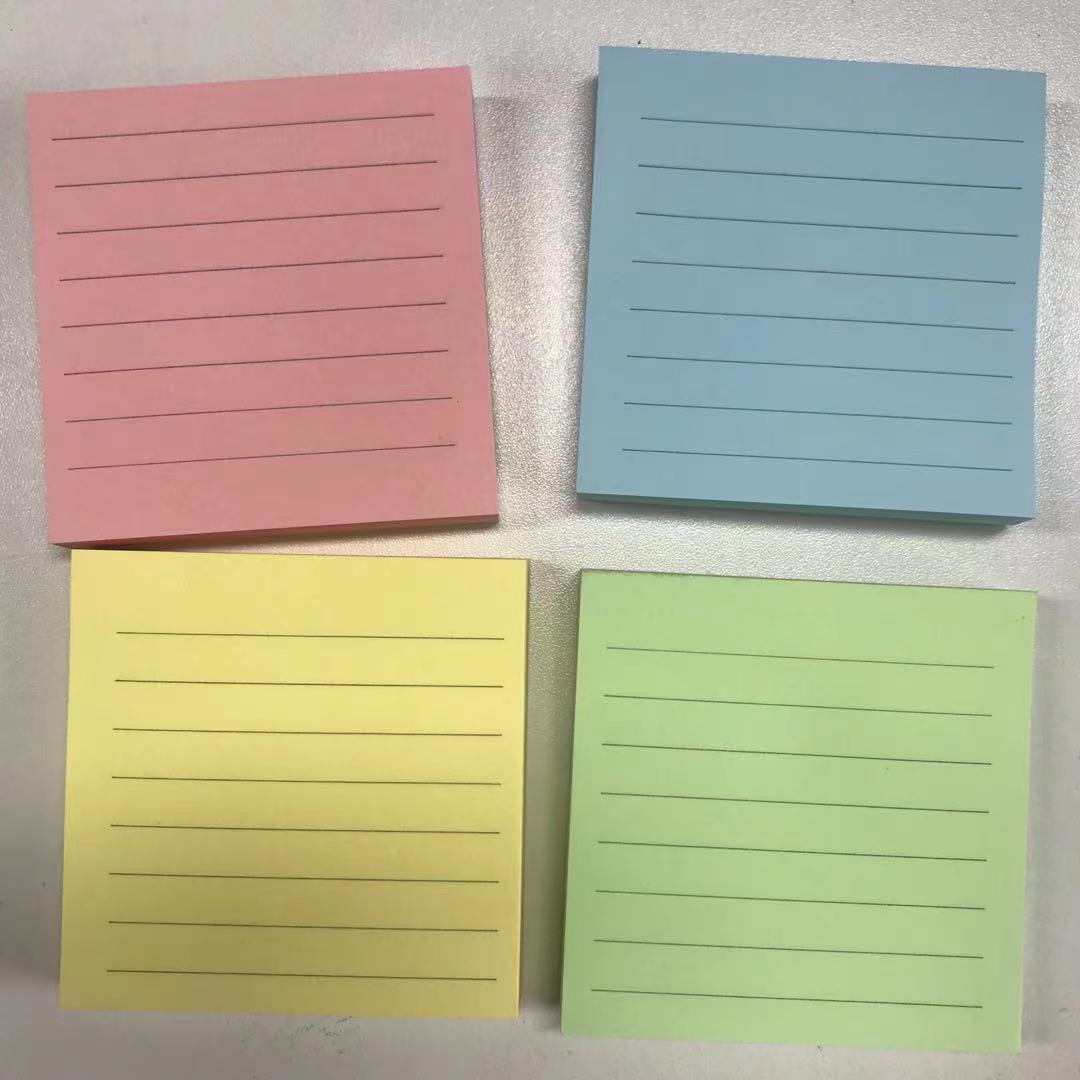 sticky note 100shets, 76x76mm with ruled lines