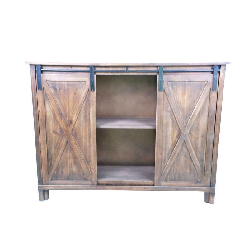 Barn Door Tv Table Stand Craft Storage Farmhouse Storage