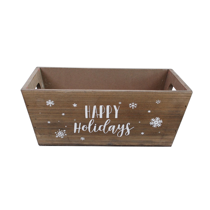 Christmas Wood And Metal Craft Planters