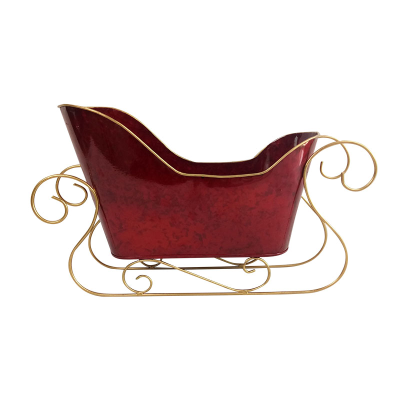 Christmas Wood And Metal Craft Sleigh