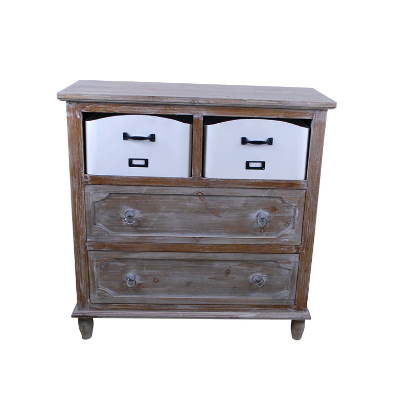 Console Table With Drawers Wood Rustic Storage Cabinet