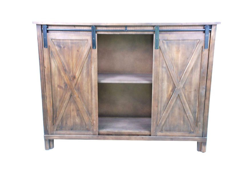 Barn Door Tv Stand Table Craft Farmhouse Storage