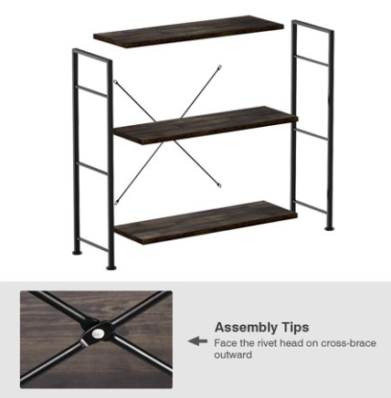 Open Etagere Stand Storage Organizer For Home And Office Cabinet