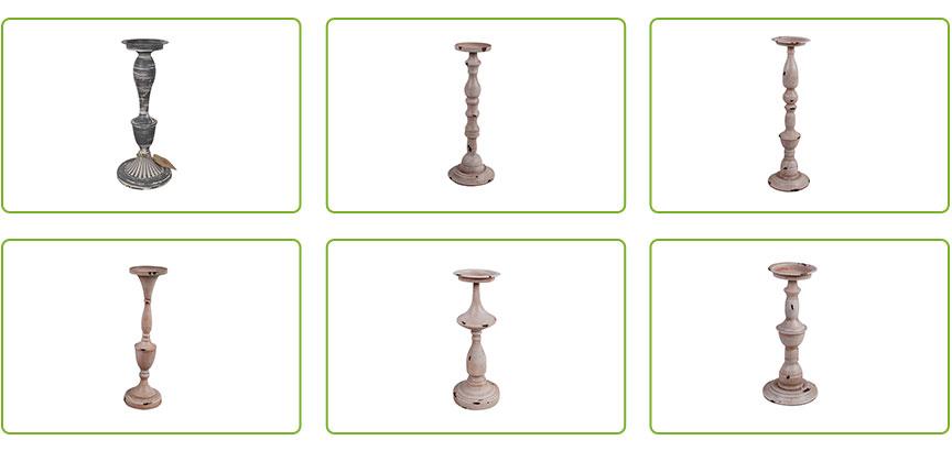 Tall Candleholder Stand Metal Centerpiece 13.98