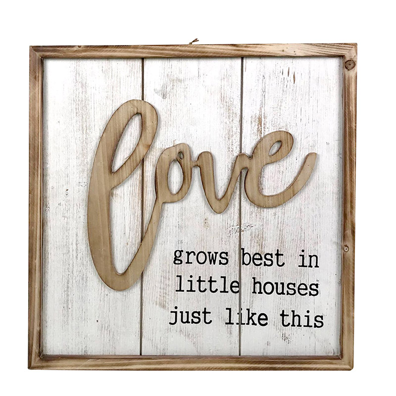 Love Lives Here Rustic Farmhouse Style Sign
