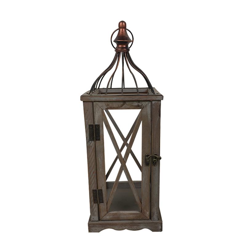 Vintage rustikální dřevěná kolekce lucerny