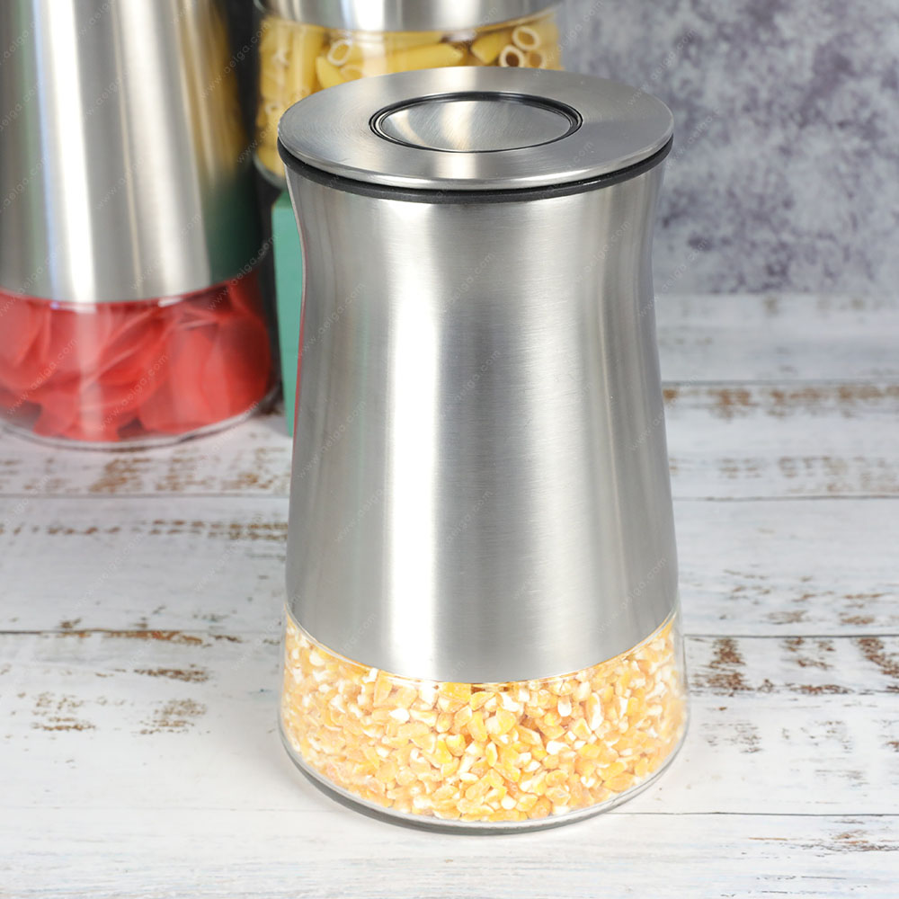Vertical Glass Container With SS For Tea