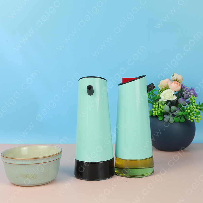 Conical Glass Oil Jar With Jacket Coating Color