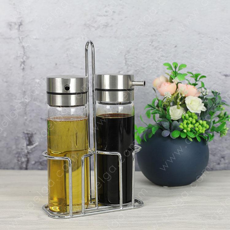 Heat Resistant Borosilciate Glass Oil Container For Vinegar
