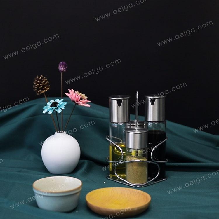 Heat Resistant Borosilciate Glass Oil Jar For Oil Vinegar