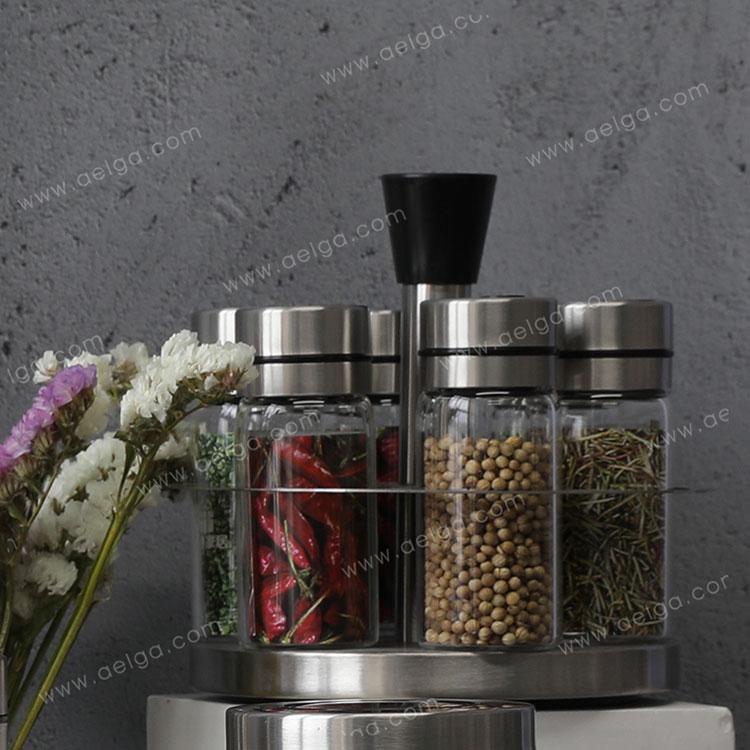 Heat Resistant Borosilciate Glass Spice Container For Cabinet