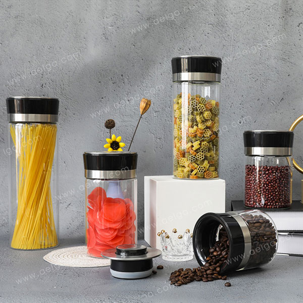 Heat Resistant Borosilicate Glass Canister For Sugar