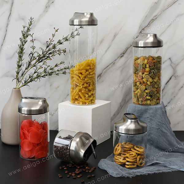 Heat Resistant Borosilicate Glass Container For Sugar