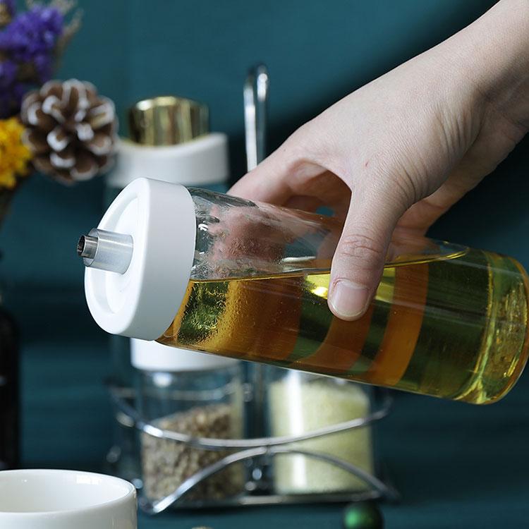 Heat Resistant Borosilicate Glass Oil Bottle For Kitchen
