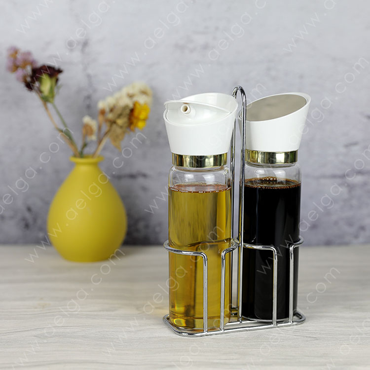 Heat Resistant Borosilicate Glass Oil Container For Kitchen