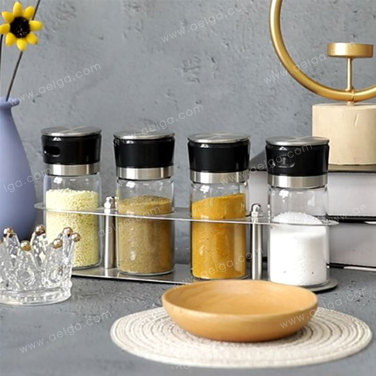 Heat Resistant Borosilicate Glass Spice Bottle For Kitchen