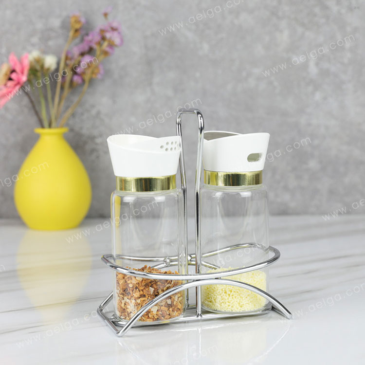 Heat Resistant Borosilicate Glass Spice Container For Pepper