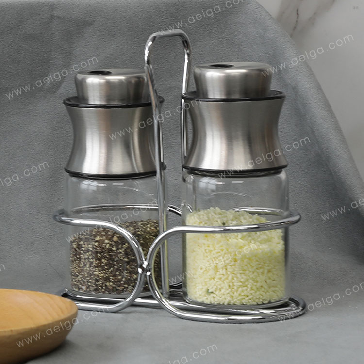 Heat Resistant Borosilicate Glass Spice Container For Salt