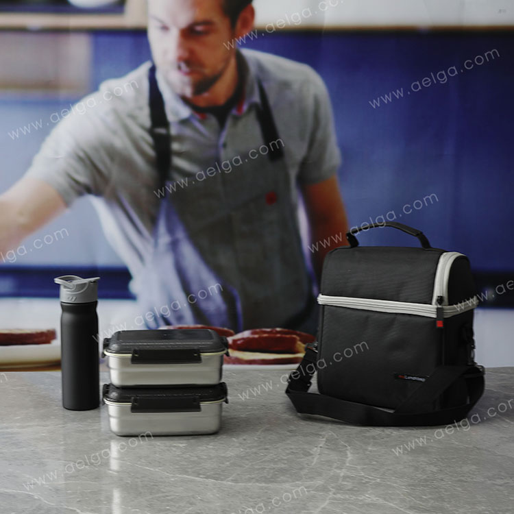 Rectangle Stainless Steel Lunch Box With Plastic Lid