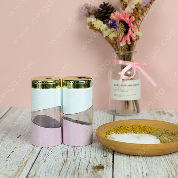 Vertical Glass Spice Bottle With Jacket Coating Colar