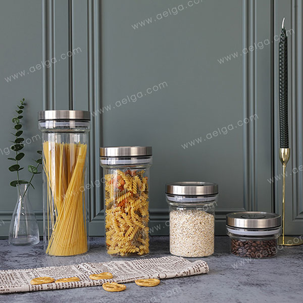 Wide Mouthed Borosilicate Glass Canister For Coffee