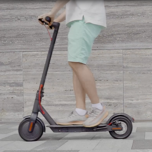 Students' use of foldable electric scooter