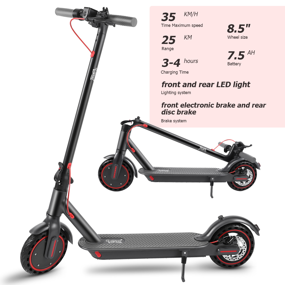 Foldable Electric scooter, a means of transportation during holidays