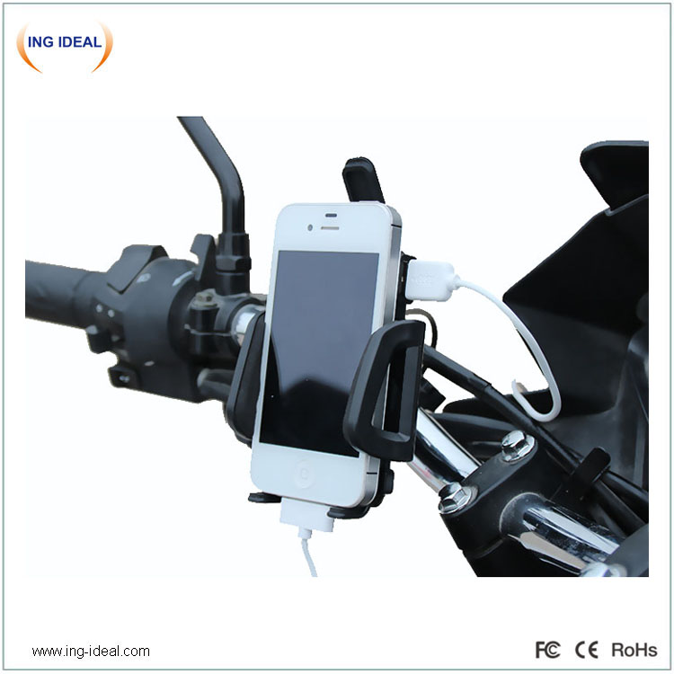 12v 85v Motorcycle Phone Holder With USB Charger