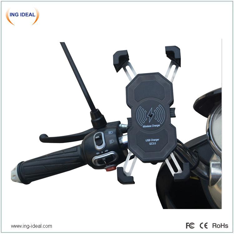 15w držák rychlého motocyklového telefonu s bezdrátovou nabíječkou